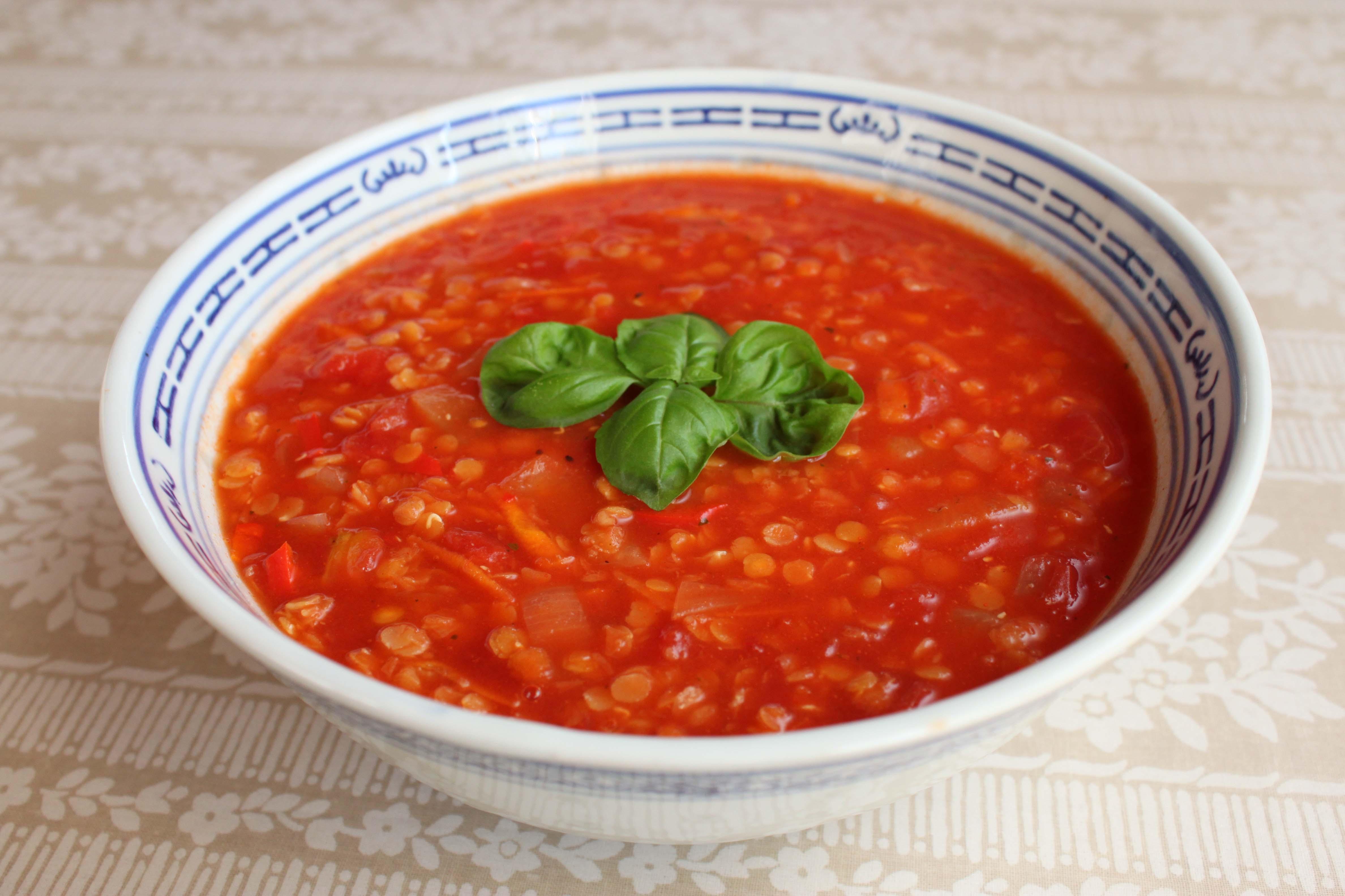 røde linser suppe